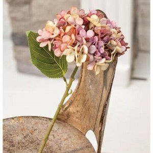 Shades of Pink Faux Hydrangea Stem